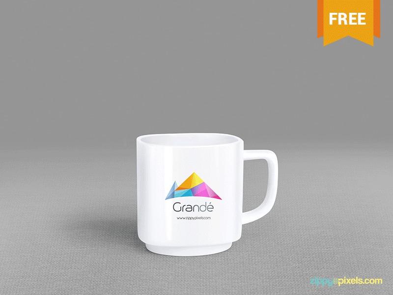 Free PSD Mug Mockup With 7 Hand Postures