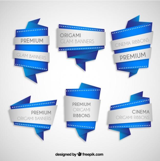 Premium origami banners