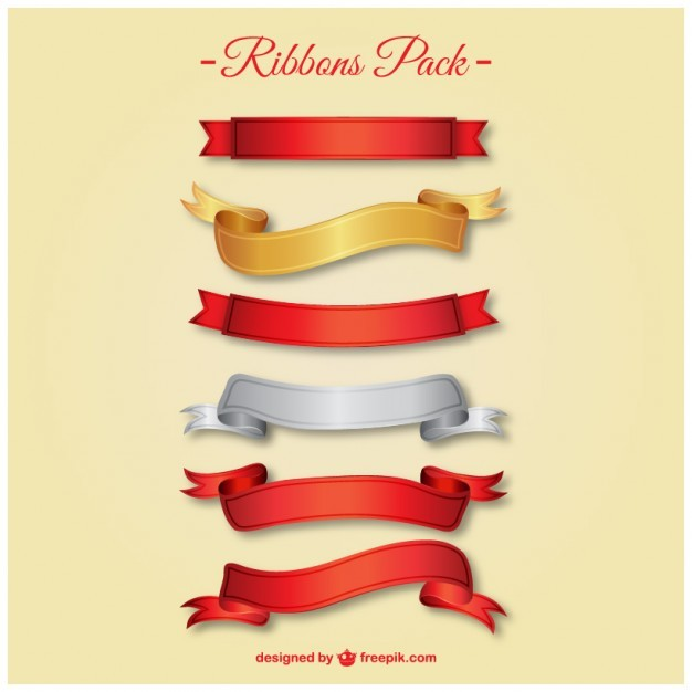 Elegant ribbons pack