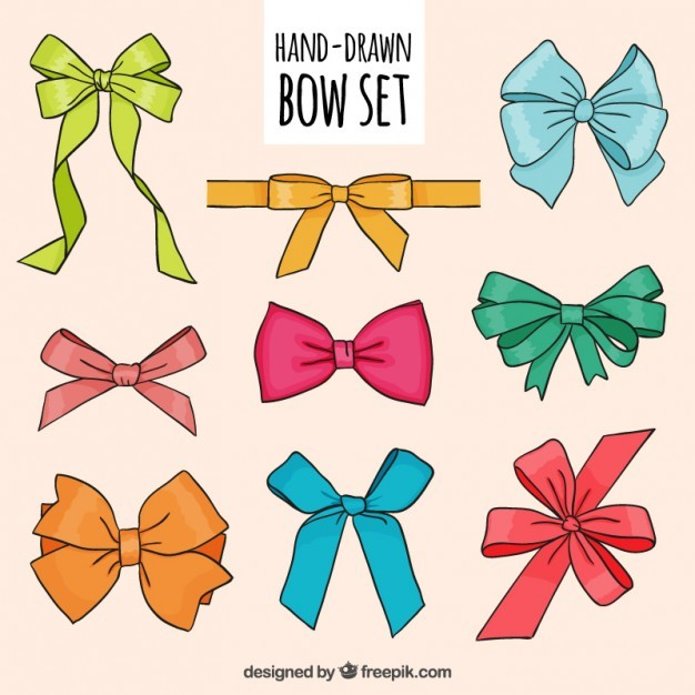 Hand drawn bows