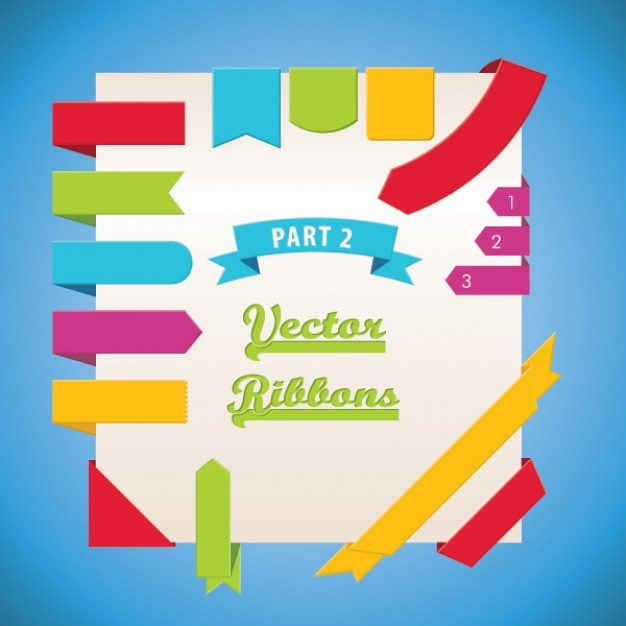 vector ribbons part