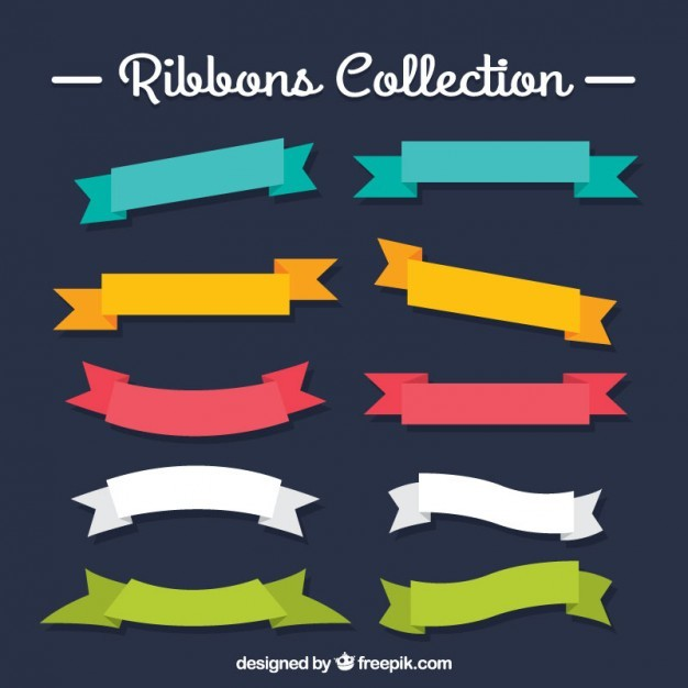 Colored ribbons collection