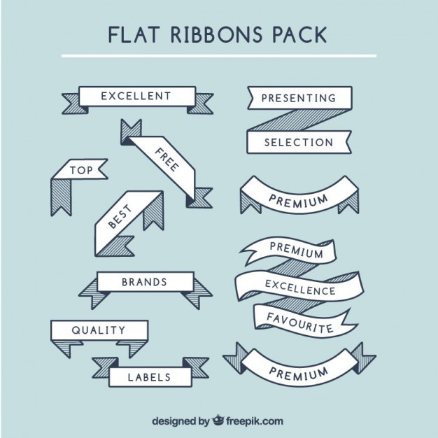 Flat ribbons pack