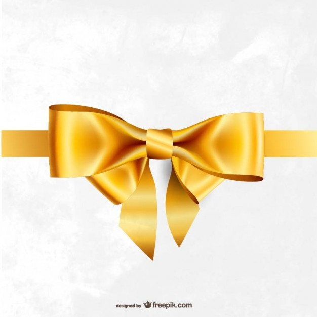 Golden ribbon vector