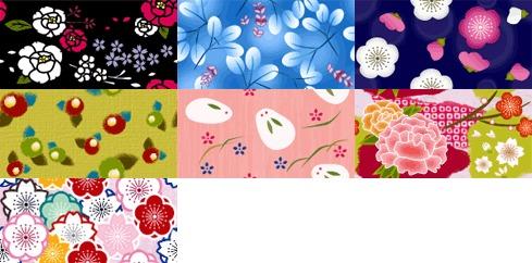 和風パターン素材 ー花ー