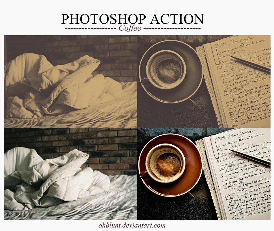 Photoshop Action Coffee