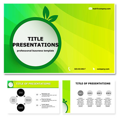 Green Eco Lightning Free Keynote themes - templates