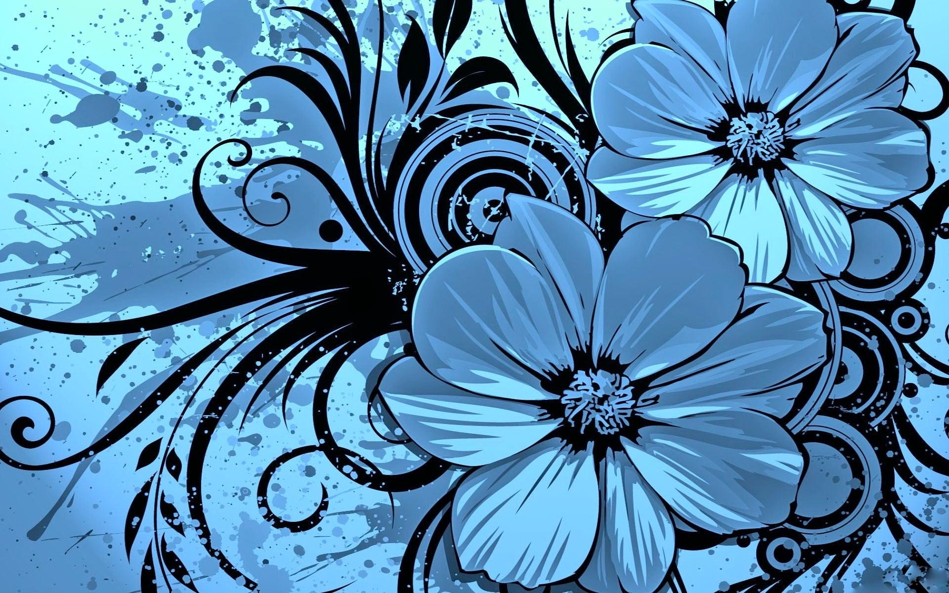 Keynote Blue Floral Theme