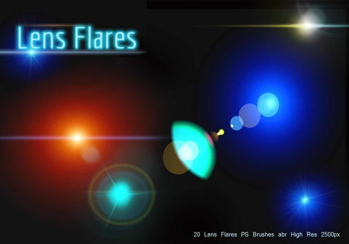 Lens Flares PS Brushes abr