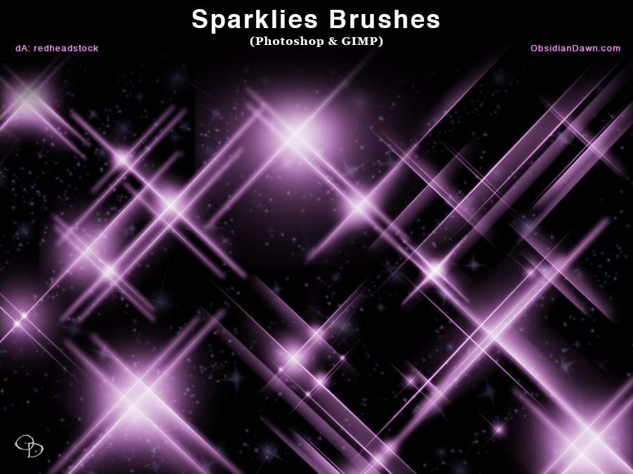 Sparklies Photoshop and GIMP Brushes
