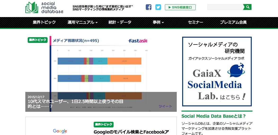 Social Media Data Base