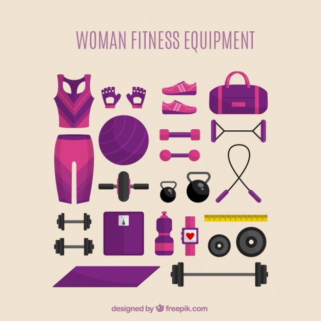 Woman fitness equipment