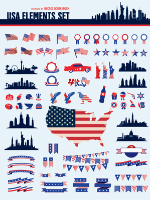 Usa elements set