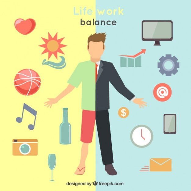 Life work balance illustration