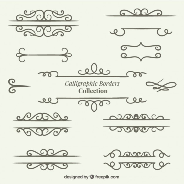 Hand drawn dividers collection