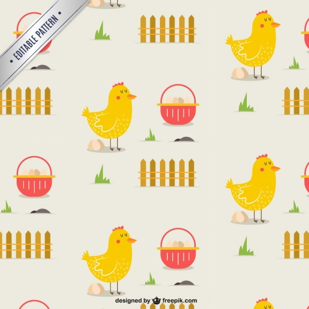 Cute hen pattern