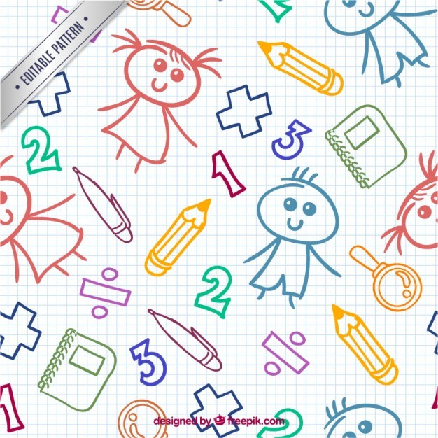Colorful child drawing pattern