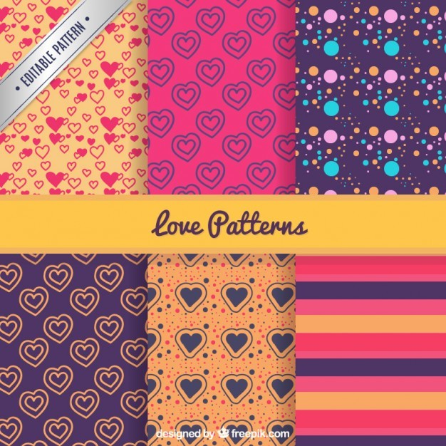 Valentine patterns pack