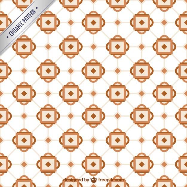 Geometric retro mosaic pattern