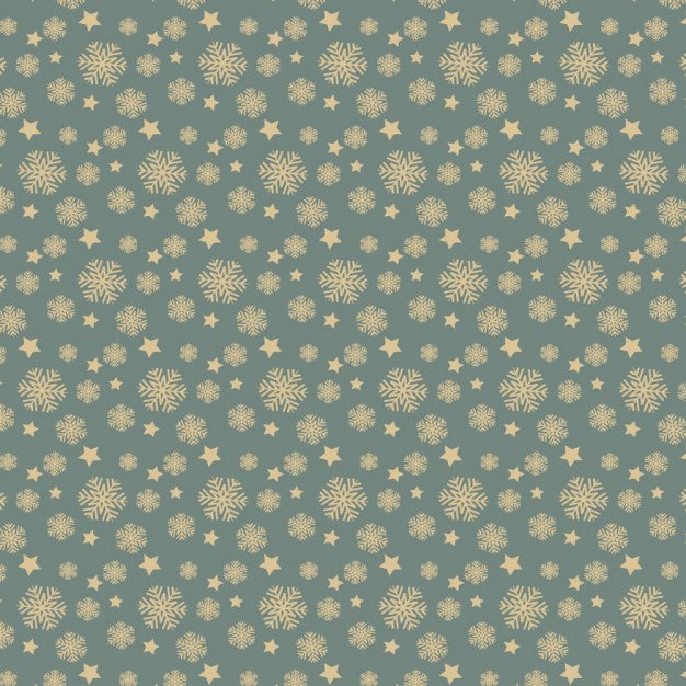 Snowflakes and stars pattern