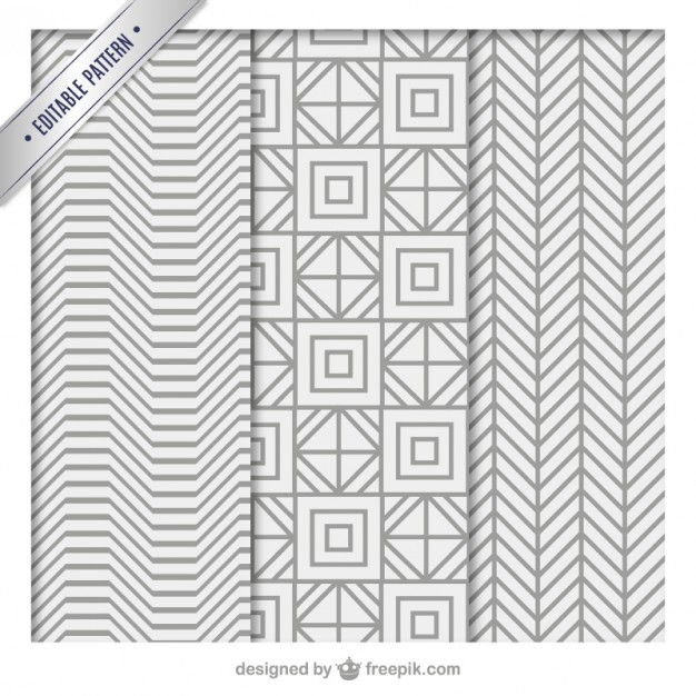 gray geometric patterns