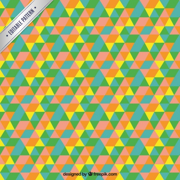 Colorful triangle mosaic pattern
