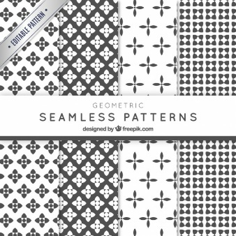 Geometric shapes pattern collection
