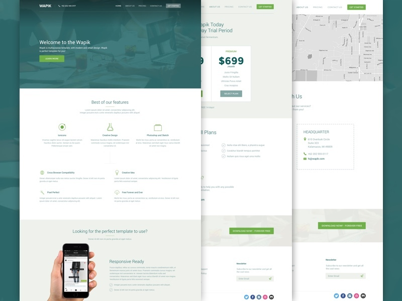 Busines Template PSD-Sketch