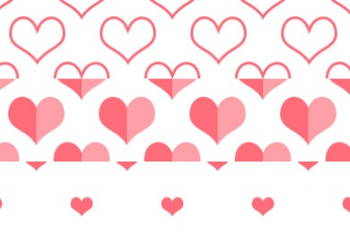 Free heart Photoshop patterns
