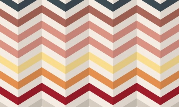 Zig zag stripes pattern in vintage style