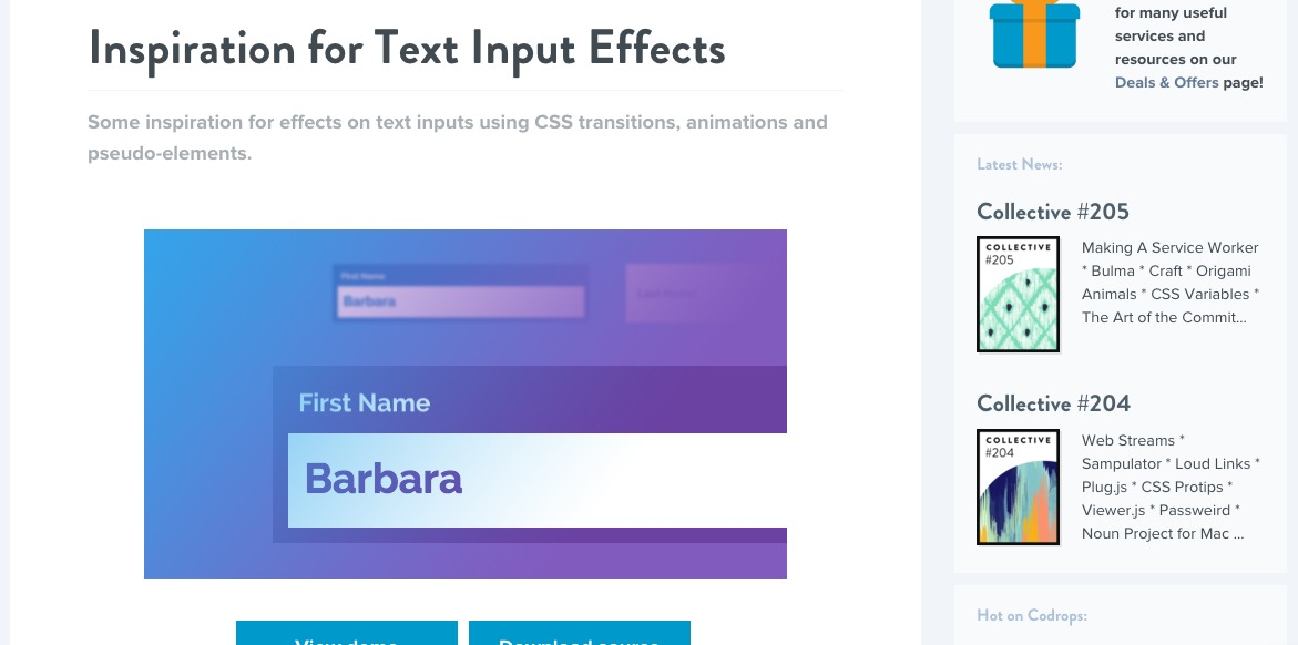 Inspiration for Text Input Effects
