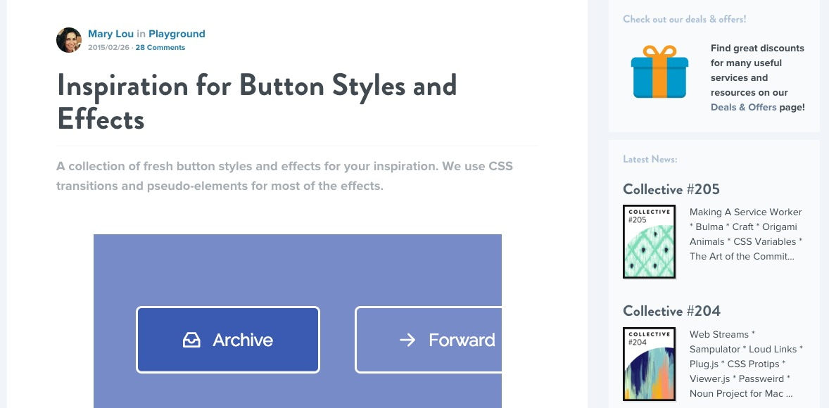INSPIRATION FOR BUTTON STYLES AND EFFECTS