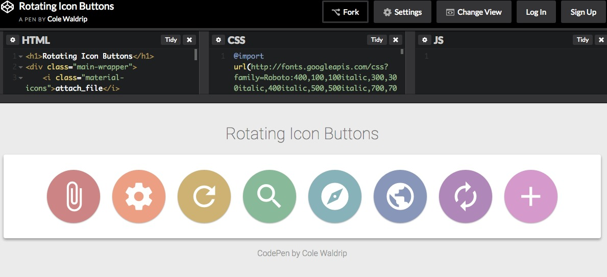 Rotating Icon Buttons
