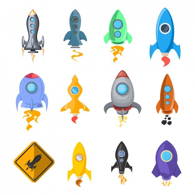 Rocket Ship Icon Collection