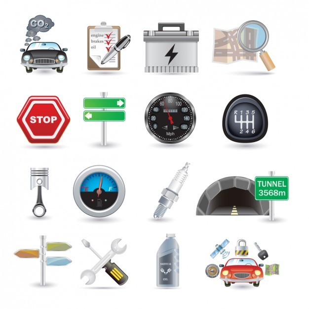 Car Parts Icon Collection