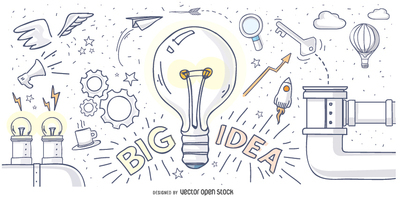 Big idea hand drawn design
