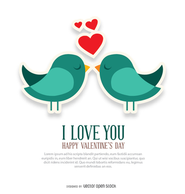 I love you and birds card