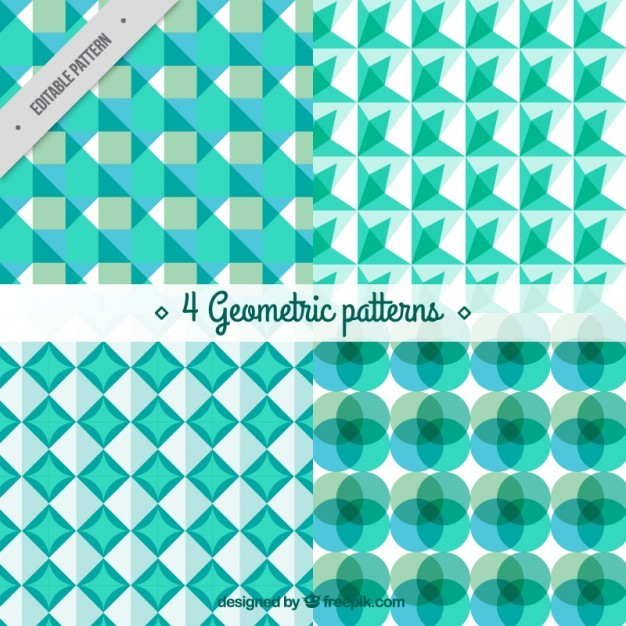 Green geometric shapes patterns