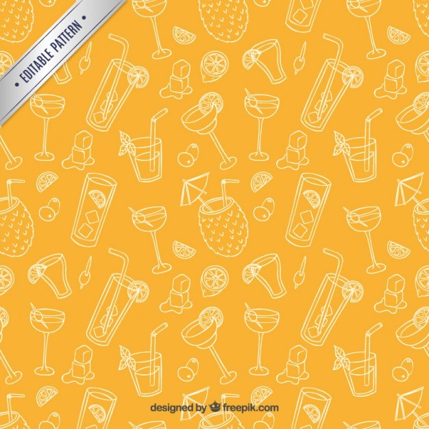 Sketchy cocktails pattern