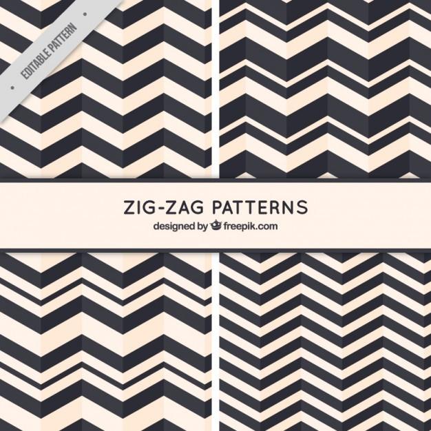Zig-zag patterns
