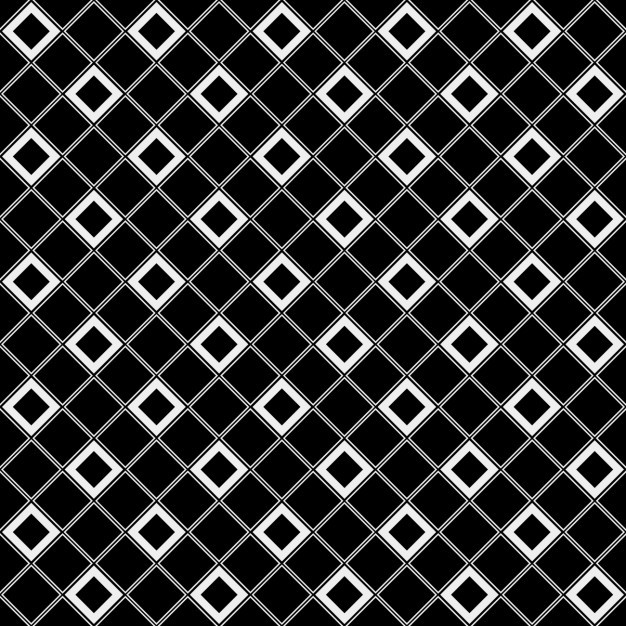 Checkered tile black and white