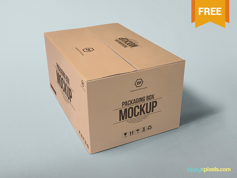 Free Packaging Box Mockup