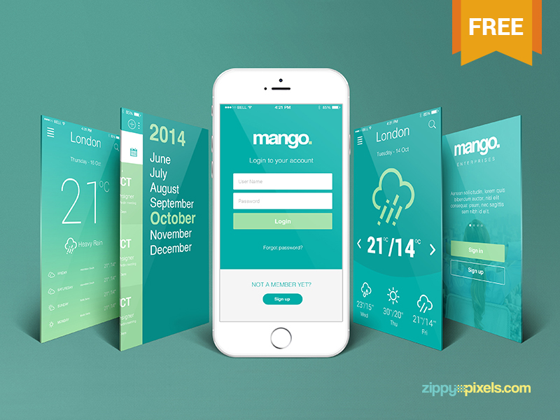 Free iPhone Perspective App Screen Mockup