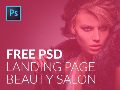 FREE PSD landing page template for Beauty Salons