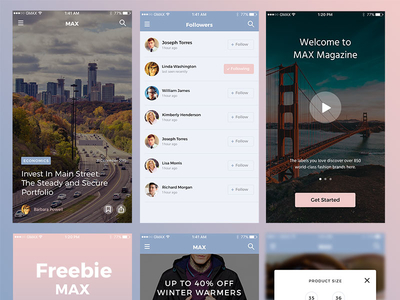 MAX UI Kit Freebie