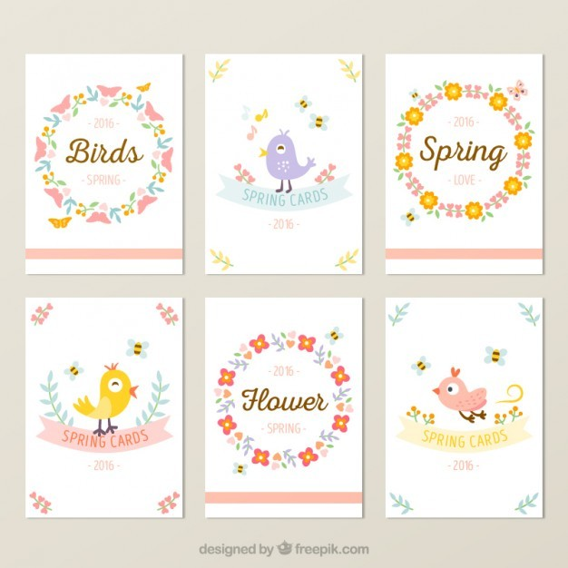 Spring pretty card collection