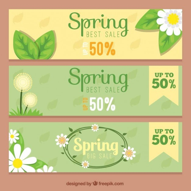 Offers spring banners