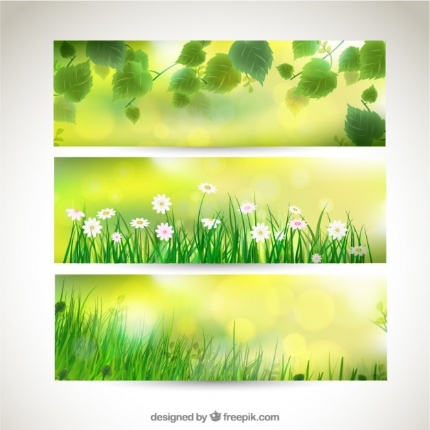 Variety of spring banners