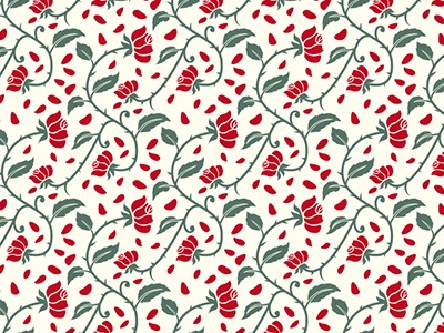 Roses Seamless Vector Pattern Free