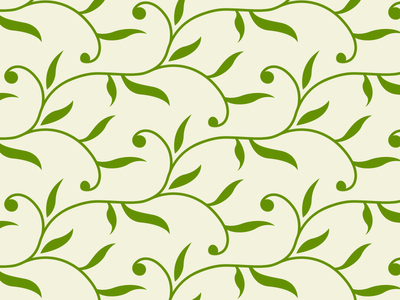 Free Decorative Leaves Seamless Vector Pattern